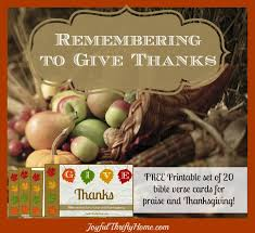 remembering to give thanks plus free printable verse cards