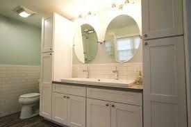 Tall Corner Bathroom Cabinet Corner Linen Cabinet Bathroom Craftsman With Airmoire Bathroom