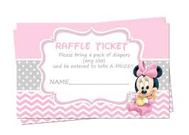 baby shower raffle baby minnie mouse baby shower raffle tickets raffle