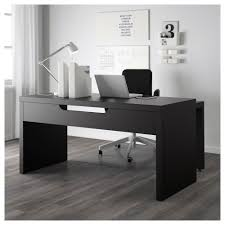 Panel Desk Malm Desk With Pull Out Panel Black Brown 151x65 Cm Ikea