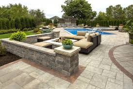 Cutting Patio Pavers Create Outstanding Pool Decks With These Concrete Pavers And