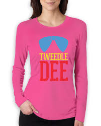 Halloween T Shirts For Dogs by Tweedle Dee Costume Women Long Sleeve T Shirt Matching Couples