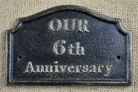 wedding anniversary plaques 6th wedding anniversary plaque solid cast iron gifts by lumley