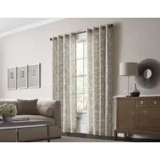 should drapes touch the floor shop allen roth lapeer 84 in shore cotton grommet light