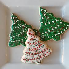 sprinkle christmas tree cookies by cousincookies on etsy