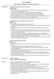 manager resume exles retail operations manager resume sles velvet