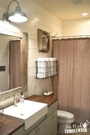Farmhouse Bathroom Ideas Colors Rustic Bathroom Makeover One Room Challenge The Pink