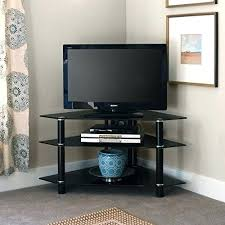 Black Corner Tv Cabinet With Doors Tv Stand Classy Black Corner Tv Stand With 2 Doors Looks Great