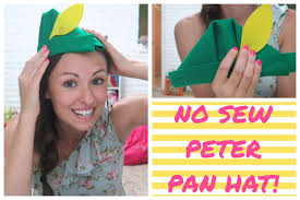 Peter Pan S Home by No Sew Peter Pan Hat Youtube