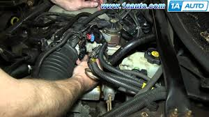 how to install replace tps throttle position sensor 3 4l chevy