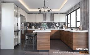 modern kitchen with brown cabinets brown modern kitchen cabinets oppein