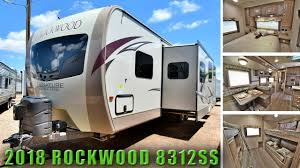 2018 bunk room floor plan rockwood 8312ss outside kitchen travel