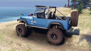 jeep open yj 1987 open top blue for spin tires