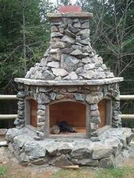 Brick Oven Backyard by Outside Patio Cooking Complex Consisting Of Brick Oven Fire Open