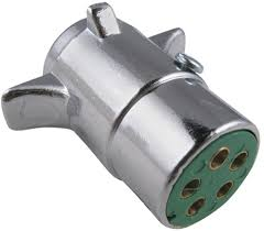 when wiring a motorcycle 5 pin round trailer plug what is the
