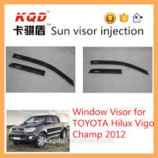 plastic car window rain shield toyota hilux sun visor toyota