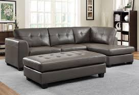 Sectional Sofa And Ottoman Set by Homelegance Springer Sectional Sofa Set Grey Bonded Leather