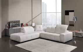 canapé angle cuir blanc canapé angle cuir blanc têtières réglables cecile design tendance