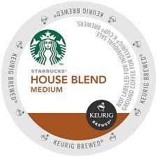 starbucks house blend k cup coffee 16 count box starbucks 120930