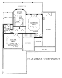 finished basement house plans fanciful 4 bedroom house with finished basement floor plans plan