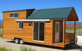 Prefabricated Cabins And Cottages by Spacious Prefab Cabin On A Trailer
