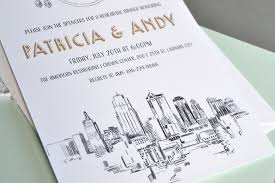 wedding invitations kansas city skyline wedding invitations save the dates