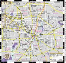 Haskell Map Streetwise Dallas Map Laminated City Center Street Map Of Dallas