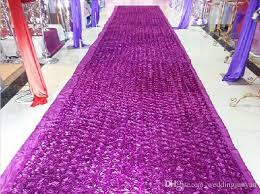 purple aisle runner fashion purple theme wedding centerpieces favors 3d petal