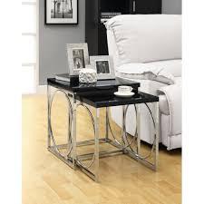 contemporary nesting end table round shape design distinctive