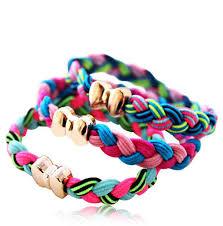 hair rubber bands online shop 5pcs random colors hair rope elastic handmade woven