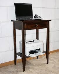 Schreibtisch Dunkelbraun Massiv Telefontisch Beistelltisch Konsolentisch Laptoptisch Massiv Holz