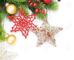 christmas decoration border design stock photo picture and