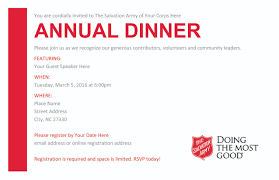 annual dinner resources the salvation army