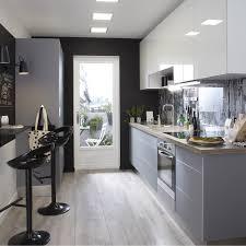 cuisine blanc meuble de cuisine blanc delinia everest leroy merlin