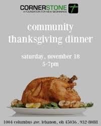 thanksgiving dinner cornerstone church of god lebanon 18 november