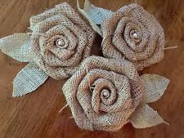 burlap flowers set of 3 large burlap flowers mint green leaves pearl rustic