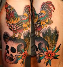 rooster tom burrey tattoo