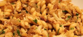 recipe gemelli pasta with roasted cauliflower and onion anchovy