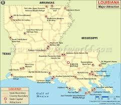 Louisiana natural attractions images Louisiana attractions louisiana travel map jpg