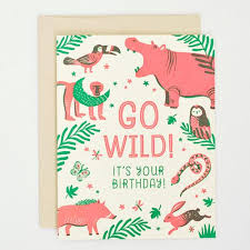 Jungle Birthday Card Jungle Birthday Card Thorn And Burrow