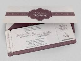 Invitation Cards Size Wedding Boarding Pass Invitation Template On Behance