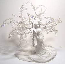 porcelain wedding cake toppers items similar to wedding cake topper tree of sculpture
