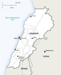 Blank World Map Of Continents by Vector Map Of Lebanon Political Lebanon