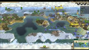 Map Of World Before Ice Age by Civ5 Six Ai Civs Battle For An Ice Age World Youtube