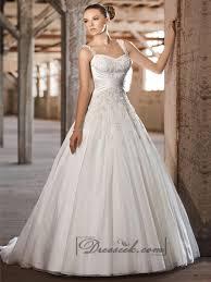 a line princess wedding dress straps sweetheart lace appliques criss cross bodice a line