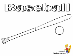 baseball bat coloring page baseball bat and ball coloring page