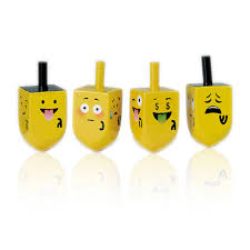 hanukkah dreidels gifts hanukkah toys board set of 4 emoji wooden