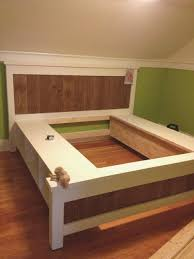 Build Platform Bed How To Build Platform Bed With Drawers Sofa Cope