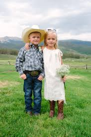 western style cowboy ring bearer and cowgirl flower girls