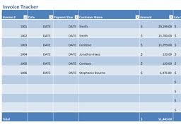 invoice tracker office templates